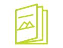 Green custom publication booklet icon