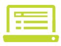 Green digital laptop icon