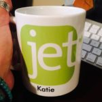 Promotional product: Coffee cup that features the Jet logo