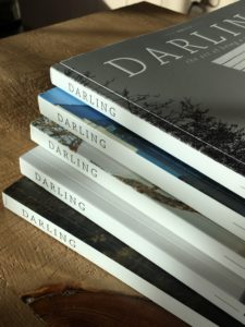 Stack of Darling magazines show a high quality print marketing option