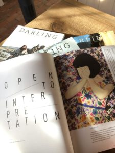 Interior pages of Darling magazine showing the options for a beautiful custom publication