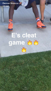 Denver Broncos social media marketing strategy includes connecting with fans on Snapchat