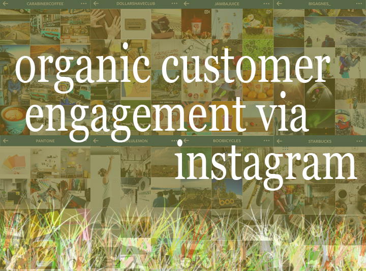 Instagram graphic providing tips on how to engage your customers in an organic way