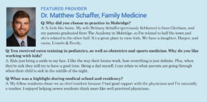 Healthcare newsletter new doctor infographic