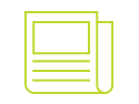 Green print materials icon