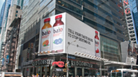 Times Square advertisement for bai5 drink
