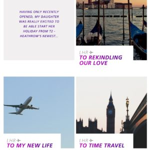 Use stories to highlight your brand like Virgin Air did for their 70th birthday