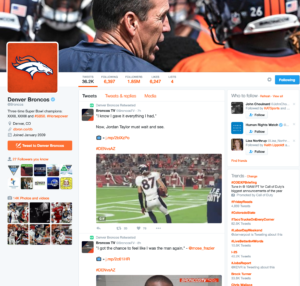Denver Broncos social media marketing strategy includes connecting with fans on Facebook
